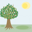 Stock Vector: Green Tree