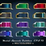 Set of Metallic Stickers — Stock Vector