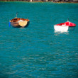 Two boats floating on lake — Stok fotoğraf