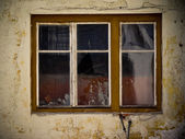 Damaged window — Stock Photo