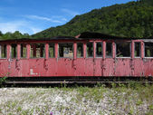 Worn out rail carriage — Stock Photo
