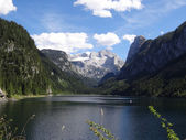 Dachstein with lake Gosau — Stock Photo