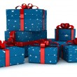 Royalty-Free Stock Photo: Gift boxes over white