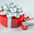 Holiday gift boxes decorated — Stock Photo
