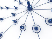 Sieci społecznej wspólnoty oznacza zespół — Zdjęcie stockowe