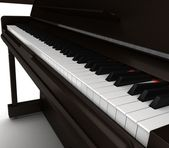 Black Classic Piano — Stock Photo