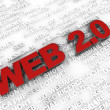 Web 2.0 symbol - Stock Photo