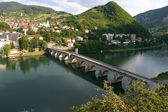 Old Stone Bridge on the Drina in Visegrad — Stock Photo