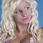 Sexy blonde in bikini — Stock Photo