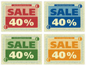 Vintage Coupon 40% — Stock Photo