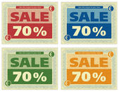 Vintage Coupon 70% — Stock Photo