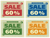 Vintage Coupon 60% — Stock Photo
