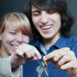 Royalty-Free Stock Photo: Couple with keys.