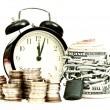 Time and money concept old style — Stock Photo