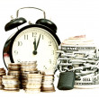 Time and money concept old style — Stockfoto