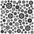 Stock Vector: Set of gears