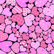 Royalty-Free Stock Vector Image: Seamless hearts