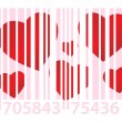 Pink ean and hearts - Stock Vector