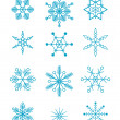 Blue snowflakes - Stock Vector