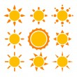 Sun collection - Stock Vector