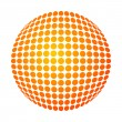 Dotted sun - Stock Vector