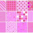 Valentine patterns - Stock Vector