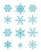 Blue snowflakes — Stock Vector