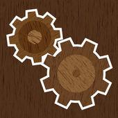 Holzräder — Stockvektor