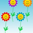 Smiling flowers — Stock Vector #6374991