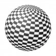 Stock Vector: Chessboard ball