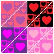 Seamless valentine patterns - Stock Vector