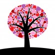 Tree hearts — Stock Vector #6375431