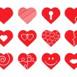 Vector de stock : Set of hearts