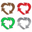 Stock Vector: Heart recycle