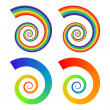 Stock Vector: Rainbow spirals