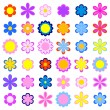 Stock Vector: Set of flowers