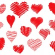 Royalty-Free Stock Vector Image: Scribbled hearts