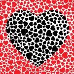 Black heart — Stock Vector