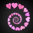 Spiral hearts — Stock Vector #6376538