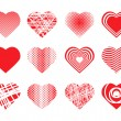 Set of hearts — Stockvectorbeeld