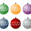 Christmas bulbs - Stock Vector