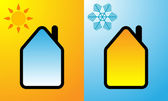 Good building heat insulation design — Stock Vector