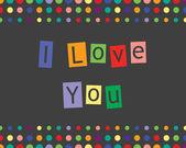 Miluju tě — Stock vektor