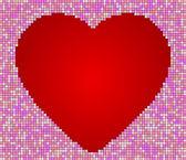 Heart tiles — Stock Vector