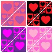Seamless valentine patterns — Wektor stockowy