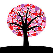 Tree hearts — Stock Vector