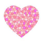 μωσαϊκό ροζ καρδιά — Διανυσματικό Αρχείο