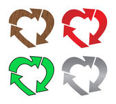 Heart recycle — Stock Vector
