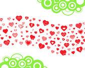 Hearts wave — Stock Vector