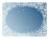 Snowflakes frame — Stock Vector